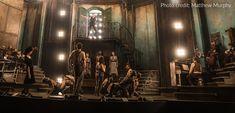 Hadestown 2019 Walter Kerr Theatre, Broadway, NYC.   Dir: Rachel Chavkin, Set: Rachel Hauck, LD: Bradley King, Costume: Michael Krass