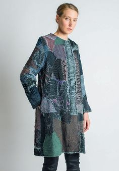 By Walid Gigi Long Coat in Pewter | Santa Fe Dry Goods