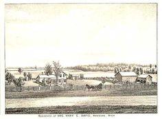 1880 LIVINGSTON COUNTY HISTORY - Image of Mary E. Davis Residence