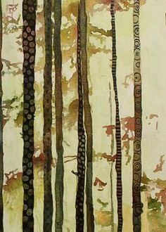 Forest quilt Greeting Card by Sandrine Pelissier