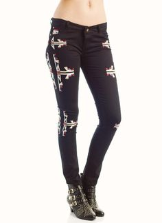 aztec embroidered skinny jeans $44.50    These are Isabelle Marant knock offs! Currently sold out but hopefully back in stock soon...