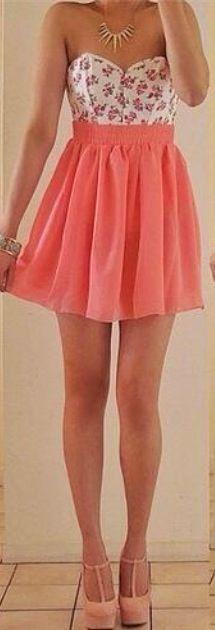 Cute #peach colored dress