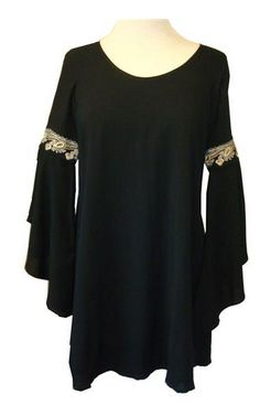LulaMae Boutique - Va Va Kathleen Bell Sleeve Dress in Black, $94.00 (http://www.lulamaestyle.com/va-va-kathleen-bell-sleeve-dress-in-black/)
