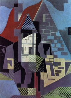 Juan Gris, Housee at Beaulieu, April 1918. Rijksmuseum Kroller-Muller, Otterlo, The Netherlands. Cubsim