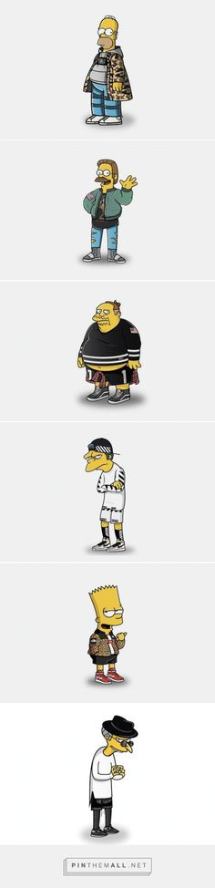 Simpsons in Streetwear by Tommy Bates – Fubiz™ - created via http://pinthemall.net