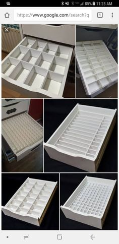 Ikea alex diy drawer inserts, foam poster board and an exacto knife. Ikea alex diy drawer inserts, foam poster board and an exacto knife. Alex Drawer Organization, Makeup Organization Ikea, Diy Makeup Organizer, Make Up Organizer, Organizing Hacks, Organization Ideas, Ikea Makeup Storage, Ikea Drawer Organizer, Vanity Table Organization