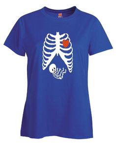 Pregnant Halloween Maternity Scary Skeleton Costumes - Ladies T Shirt – Cool Jerseys