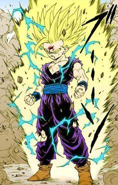 DBZ Gohan - he's such a badass Dragon Ball Gt, Fan Art, Figurine Dragon, Manga Dragon, Ball Drawing, Z Arts, Super Saiyan, Anime Art, Artwork
