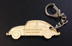 VW Beetle Personalised Keyring by ArdereDesigns on Etsy