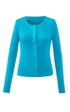 Liven up your fall palette with a pop of turquoise. The hourglass rib of the…