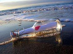 Message In A Bottle Chris De Burgh, Image Nature, I Love The Beach, Message In A Bottle, Through The Looking Glass, Sandy Beaches, Heart Art, Seaside, Waves