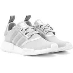 Adidas Originals NMD R1 Mesh Sneakers (180 CAD) ❤ liked on Polyvore featuring shoes, sneakers, grey, adidas originals, adidas originals shoes, grey sneakers, gray shoes and mesh sneakers