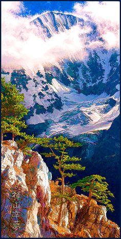 Zen Mountain Creative Art, Zen, Mountains, Artwork, Nature, Painting, Travel, Pictures, Photo Calendar