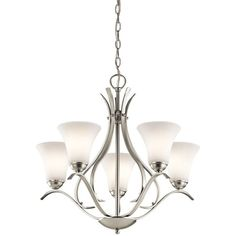 """$254.00 Kichler 43504 Keiran 1-Tier Chandelier with 5 Lights - 72"""" Chain Included - 24 Inches Wide at LightingDirect.com."""