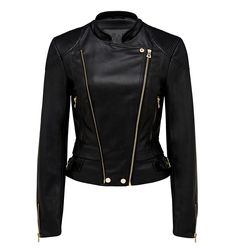 Suzie cropped Pu biker jacket Black - Womens Fashion | Forever New