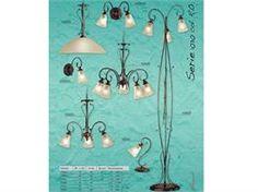 Lampadari in ferro battuto collezione Lux1030