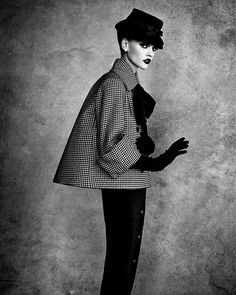dior couture.  houndstooth#