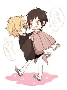 Shizaya, Japanese Anime Series, Durarara, Light Novel, Fujoshi, Alters, Chibi, Pasta, Humor