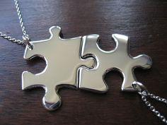 Best Friend Necklaces Puzzle Piece Pendants
