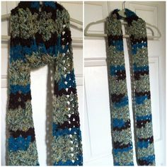 66L x 6W fun colors and unique crochet design. Only $25 at my Etsy Shop with free shipping!!!  https://www.etsy.com/listing/199008864/crochet-scarf