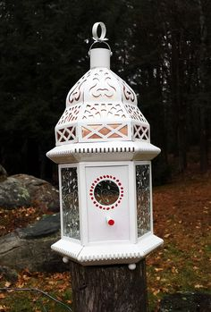 Birdhouse  Moroccan Style Birdhouse  by CharitableCreations,