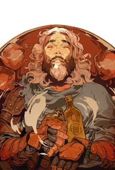 Dragon Age Knight Errant #3 for Dark Horse ComicsCover art for third issue of the new series! Drowning the sorrows away it seems