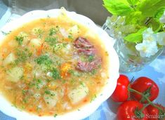 Kwaśnica on a young cabbage - recipe from Smaker. Cheeseburger Chowder, Cantaloupe, Cabbage, Fruit, Cooking, Recipes, Food, Kitchen, Essen