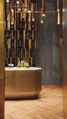 Retail Interior Design, Restaurant Interior Design, Kitchen Interior, Interior Decorating, Bar Counter Design, Bar Design, Store Design, Design Commercial, Café Restaurant