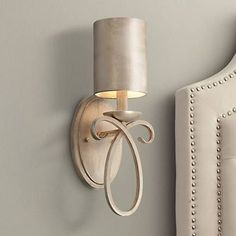 """Cassidy Golden Silver Metal Shade 15 1/2"""" High Wall Sconce - #U4600   Lamps Plus"""
