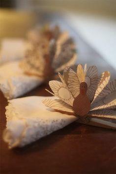 Easy Paper Turkey Napkin Holders