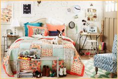 Adorable room, but this person lives in a garage? Check out new Home Lookbook fr Urban Outfitters