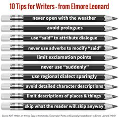 1- tips for writing. what to and to not do.