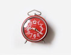 Vintage soviet mechanical alarm clock VITJAZ  by CuteOldThings, $41.00