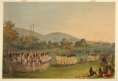 George.CATLIN Play Dance Choctaw Indians