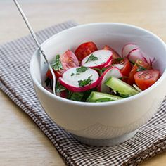 Tomato, Cucumber and Radish Salad