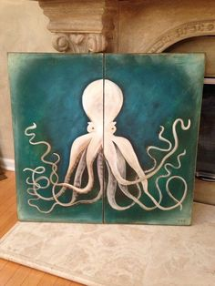 Octopus art by KelliesCreationsShop on Etsy
