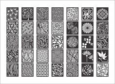 Seamless Curved Star Pattern Design dxf File Free Download - 3axis.co