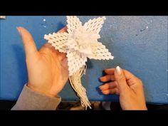 DIY Macramè Fiore Grande / DIY Macrame large flower / DIY Makrame veliki cvijet - YouTube Macrame Wall Hanging Patterns, Macrame Art, Macrame Design, Macrame Knots, Macrame Patterns, Micro Macramé, Large Flowers, Weaving, Merry