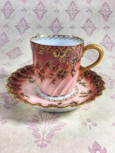 Antique Haviland And Co Limoges Porcelain Cup And Saucer Dressy Flats, Teacups, Cup And Saucer, Tea Time, Tea Pots, Porcelain, China, Plates, Antiques
