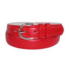 CTM Womens Leather 1 1/8 Inch Dress Belt