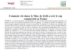 IAM dans Yahoo.fr le 10 février 2017
