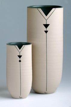 Cylinders  - Pierced Cylinders by Louise Darby