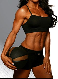 fitness model with a medicine ball (but where's her face!?) #fitness #motivation #workout