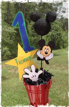 Mickey Mouse Birthday Personalized by RaeofSunshinedesign on Etsy, $11.00