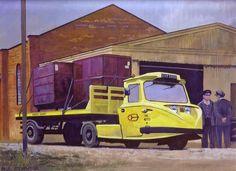 Scammell Townsman 1966, de tres ruedas y remolque articulado