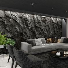 Stone Interior, Room Interior, Home Interior Design, Bungalow House Design, House Front Design, Luxury Dining Room, Luxury Rooms, Stone Wall Living Room, Tadelakt