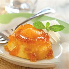 Upside-Down Apricot Peach Cakes