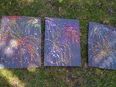 Kids homemade fireworks
