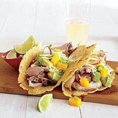 Pork Tacos with Mango Slaw | MyRecipes.com