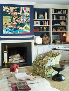 Want to paint the back of the bookshelves something other than white